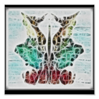Poster del fractal de Rors nueve