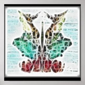 Poster del fractal de Rors nueve Póster