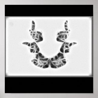 Poster del fractal de Rors siete