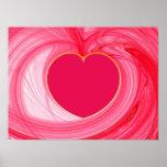 Poster del fractal del corazón
