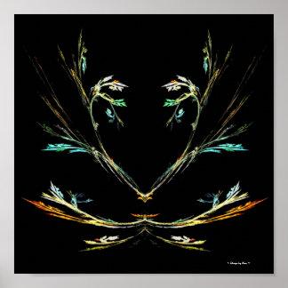 Poster del fractal del helecho