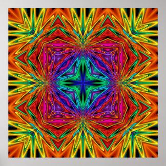 Poster del fractal No2 de Kreations del caleidosco