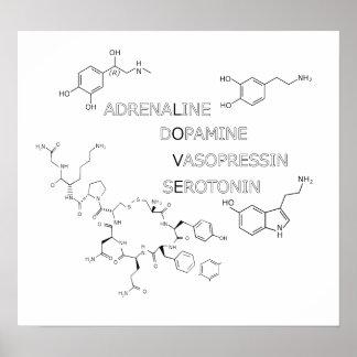 Poster del friki del amor de la estructura química