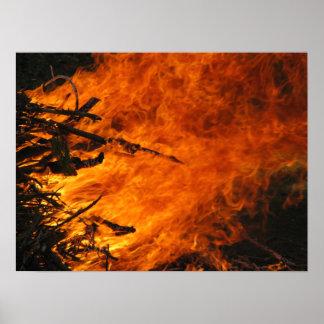 Poster del fuego que rabia