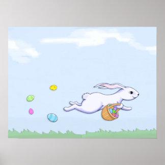 Poster del funcionamiento del conejo de Pascua Póster
