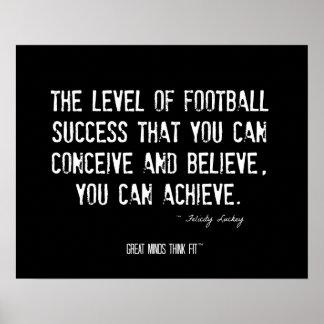 Poster del fútbol con cita de motivación
