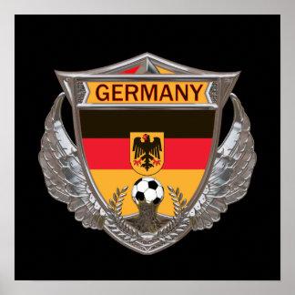 Poster del fútbol de Alemania