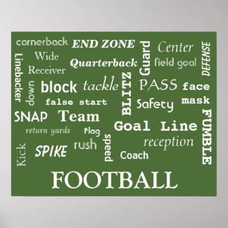 ¡Poster del fútbol de la diversión! Póster