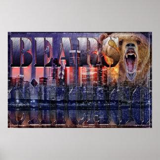 Poster del fútbol de los osos