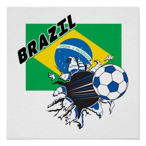 Poster del fútbol del Brasil Futbol