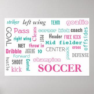 ¡Poster del fútbol! ¡Gran manera de exhibir! Póster