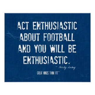 Poster del fútbol para el entusiasmo