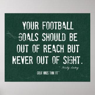 Poster del fútbol para la motivación