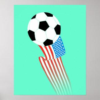 Poster del fútbol: Turquesa los E.E.U.U.