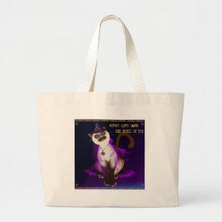 Poster del gatito de Witchy Bolsa Tela Grande