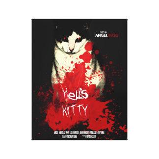Poster del gatito del infierno - lona lienzo envuelto para galerias