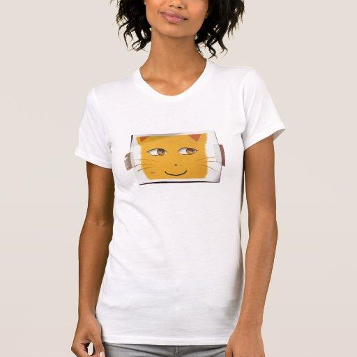Poster del gato camisetas