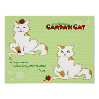 Poster del gato de Campari