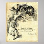 Poster del gato de Cheshire