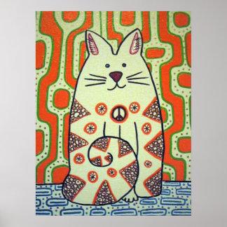 Poster del gato de la paz