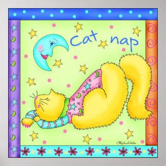 Poster del gato de la siesta del gato