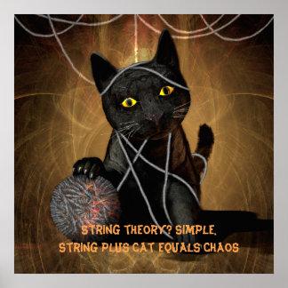 Poster del gato de la teoría de la secuencia