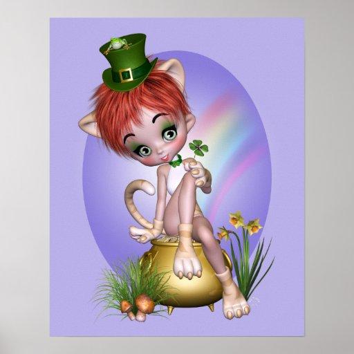 """Poster del gato de Patty"" - púrpura"