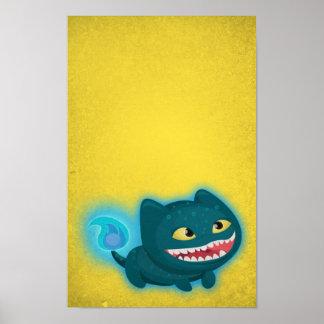 Poster del gato de Tosca - ArtCartoonStudio