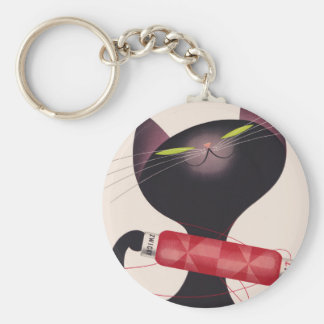 Poster del gato de Zwicky de Donald Brun Llavero Redondo Tipo Pin