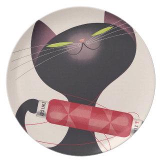 Poster del gato de Zwicky de Donald Brun Platos De Comidas
