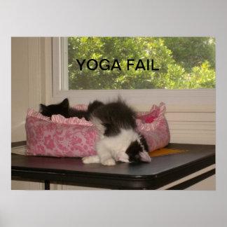 Poster del gato del fall de la yoga