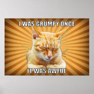 Poster del gato del zen