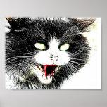 Poster del gato del zombi mini