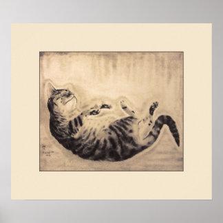 Poster del gato el dormir póster