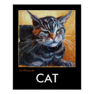 Poster del gato en negro
