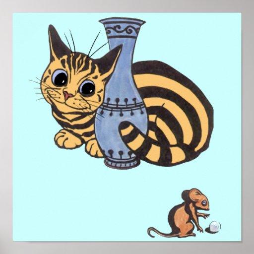 Poster del gato y del ratón