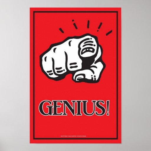 poster del genio 11x16