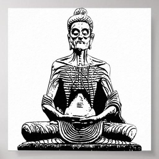 Poster del gigante de Buda que muere de hambre