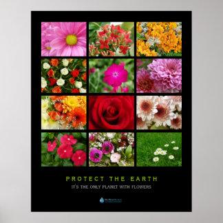 Poster del gigante del collage de las flores