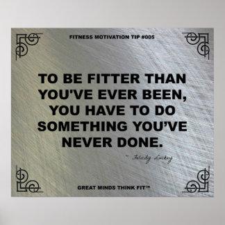 Poster del gimnasio para la motivación #005 de la