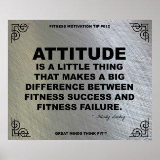 Poster del gimnasio para la motivación #012 de la
