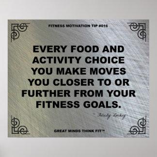 Poster del gimnasio para la motivación #016 de la póster
