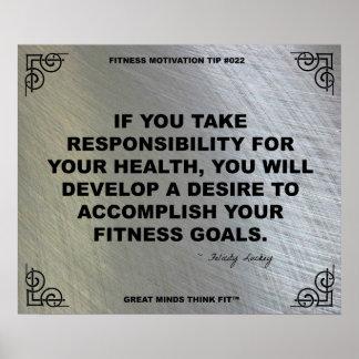 Poster del gimnasio para la motivación #022 de la