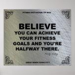 Poster del gimnasio para la motivación #025 de la