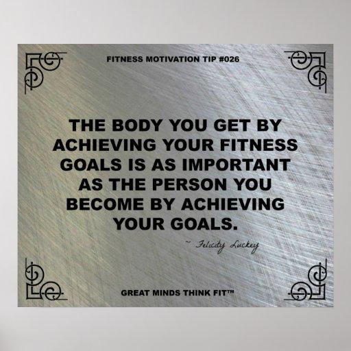 Poster del gimnasio para la motivación #026 de la