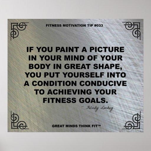 Poster del gimnasio para la motivación #033 de la