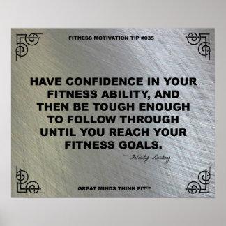 Poster del gimnasio para la motivación #035 de la