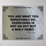 Poster del gimnasio para la motivación #036 de la