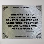 Poster del gimnasio para la motivación #042 de la