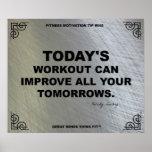 Poster del gimnasio para la motivación #048 de la